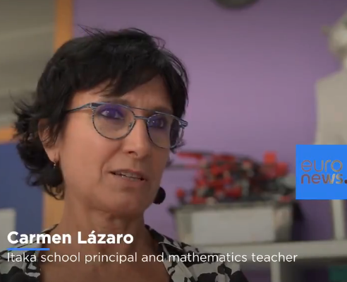 Reportaje en Euronews: el IES Ítaca como modelo de estrategia digital educativa