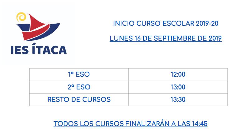 JORNADA DE ACOGIDA Y PRESENTACIÓN DEL CURSO 2019-20
