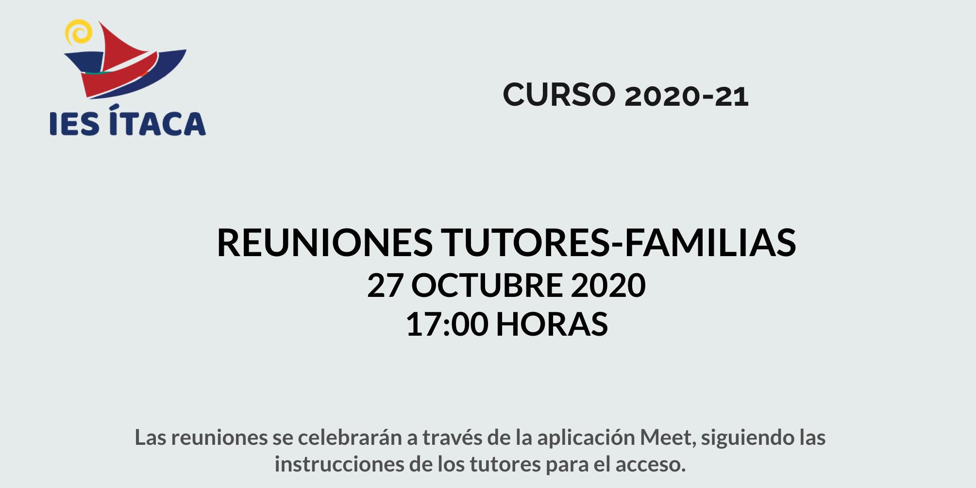 REUNIONES TUTORES-FAMILIAS